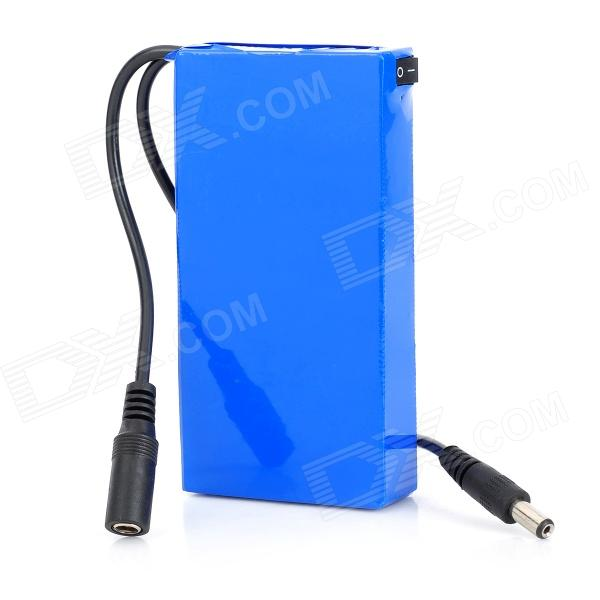 DC-12680 12.6V 9AH 3000mAh Li-ion Polymer Battery - Blue + Black
