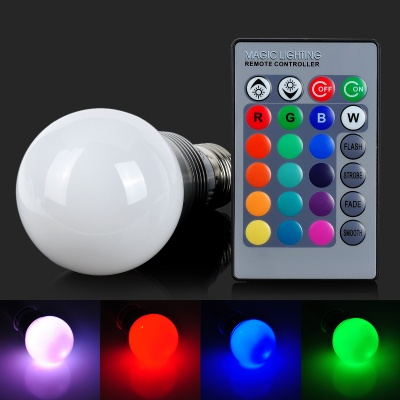Q2 E27 5W 200lm 1-LED RGB Light Bulb (85~265V)