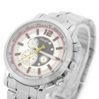 Zhongyi z-803 Woman's Classic Analog Quartz Wristwatch - Silver + White (1 x 626)
