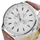 Zhongyi 628 Men's Analog Quartz Wristwatch - White + Coffee (1*626)