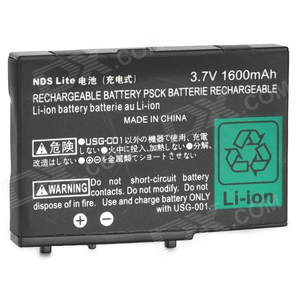 Buy Portable PB-08 3.7V ''1600mAh'' Rechargeable Battery for NDS - Black with Litecoins with Free Shipping on Gipsybee.com
