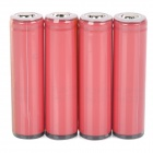 SANYO 2600mAh Rechargeable Li-ion 18650 Battery - Red + Golden (4 PCS)