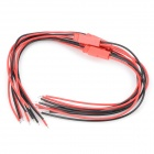 PVC 2pin Connecting Cables - Black + Red (5PCS)
