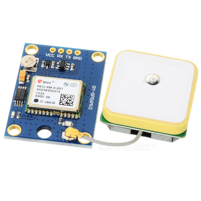 GY-GPS6MV2 GPS APM2.5 Module w/ Antenna - Deep Blue (3~5V)Transmitters &amp; Receivers Module<br>Form  ColorDeep BlueBrandN/AModelGY-GPS6MV2Quantity1 DX.PCM.Model.AttributeModel.UnitMaterialCCL + componentEnglish Manual / SpecYesOther FeaturesWith ceramic active antenna for strong signal, data backup battery and EEPROMWorking Voltage   3~5 DX.PCM.Model.AttributeModel.UnitPacking List1 x Module<br>