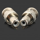 Q9 RCA female jack naar BNC male plug connector adapter controleren - zilver (2 stuks)