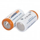 Hongyang CR123A Disposable Lithium Manganese Dioxide AA Battery - White + Blue (2 PCS)