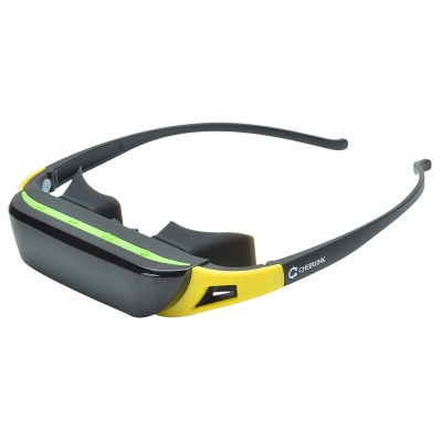 """CHEERLINK 84"""" 720P Stereo 16:9 Virtual Screen Video Glasses / Portable Mobile Theater - Black"""