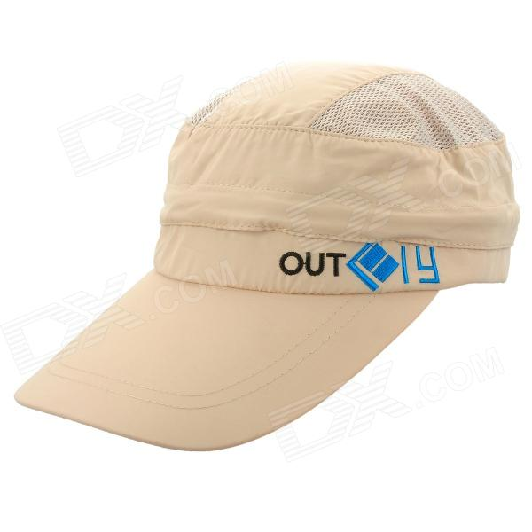 OUTFLY A12026  Spring and Summer Detachable Hat for Men - Khaki (Free Size)