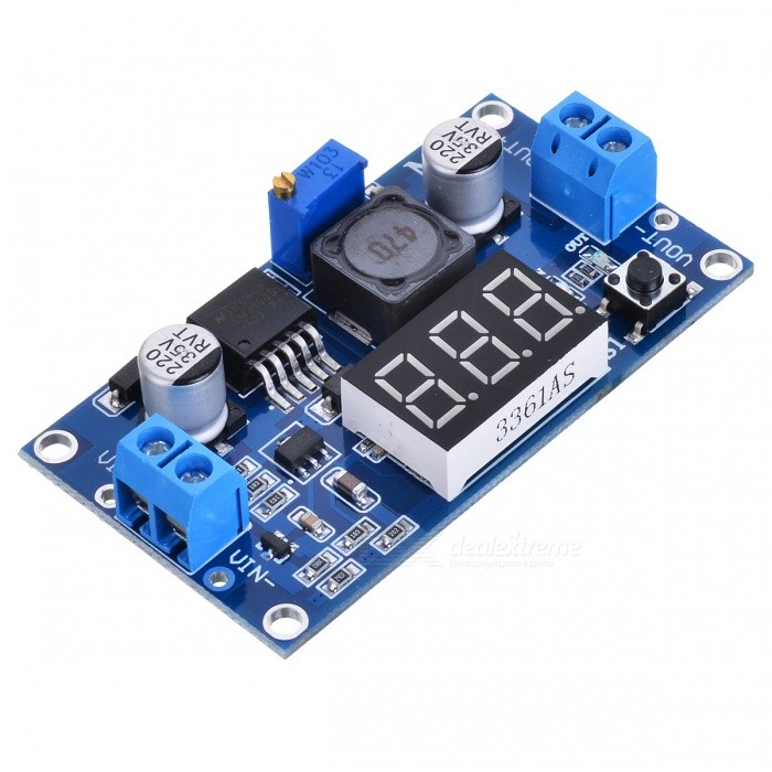 HZDZ LM2596 Poder Step-down Voltage Regulator Module voltímetro Exibição