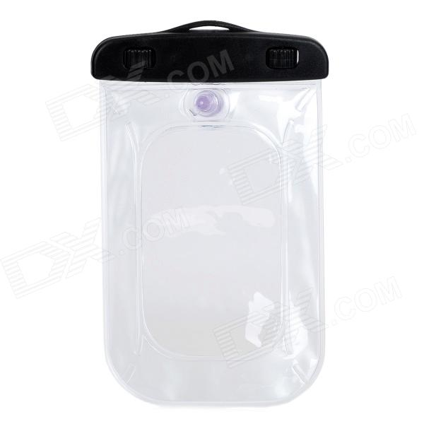 Convenient Waterproof PVC Bag for IPHONE 4 / 5 / Samsung S4 + More - Black