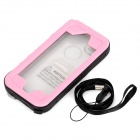 SK-109 Protective Waterproof PC + PVC + Silicone Case for IPHONE 5 / 5S / 5C - Pink + Transparent