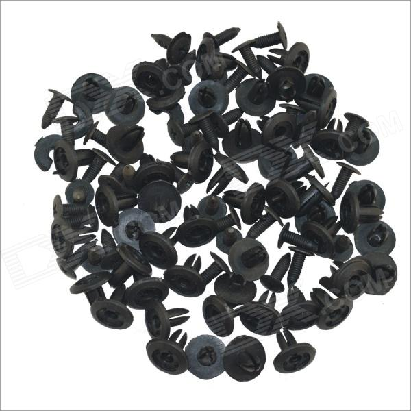 Car Plastic Rubber Buckles for Toyota - Black (100PCS)