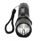 HolyFire HF-10 LED 240lm 3-Mode White Tactical Flashlight w/ Compass - Black (1 x 18650)