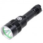 NEW-MX90 LED 800lm 5-Mode White Tactical Flashlight - Black (2 x 18650)