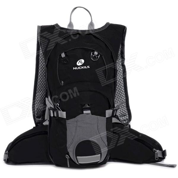 Buy NUCKILY PM09 Outdoor Sports Water Resistant Oxford Backpack - Black (35L) with Litecoins with Free Shipping on Gipsybee.com