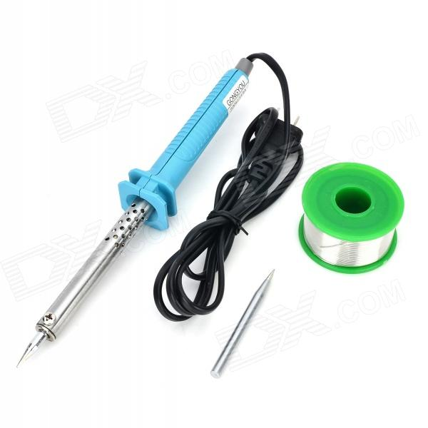 3-in-1 220V 60W Electric Soldering Iron + Solder Tip + 99.3Sn 0.7Cu Tin Wire (US-Plug)