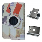 Eiffel Tower Pattern 360 Rotation PU Leather Case Stand for Samsung Galaxy Tab 3 Lite T110/111