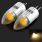 JRLED G4 1W 60LM 3300K Warm White LED Mini Lamp - Silver (2 PCS)