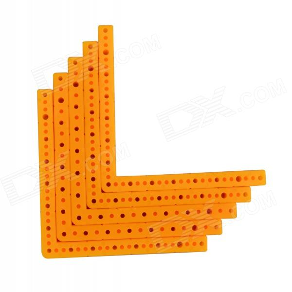 L-5-1 DIY Replacement Plastic 90 Angled Bar for Model Vehicle - Yellow (5 PCS)Other Accessories for R/C Toys<br>Form  ColorYellowModelL-5-1MaterialPlasticQuantity5 DX.PCM.Model.AttributeModel.UnitCompatible ModelModel carOther FeaturesLength: 10cm; hole diameter: 2mm / 2.5mm; section: 7 x 7mm; suitable for car frame, reducer casing.Packing List5 x Rods<br>