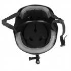 OUMILY Outdoor Paratrooper Helmet w/ Mounting Bracket for GoPro & Sony Camera - Black