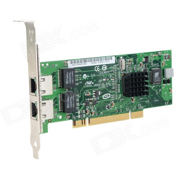 DIEWU 8492MT Gigabit LAN Network Card Adapter for Server - GreenNetwork Cards<br>Form  ColorGreenBrandDIEWUQuantity1 DX.PCM.Model.AttributeModel.UnitMaterialFiber + copperShade Of ColorGreenInterfaceRJ45,PCITransmission Rate10,100,1000 DX.PCM.Model.AttributeModel.UnitChipsetIntel82546EB/GBNetwork ProtocolsIEEE 802.11a,IEEE 802.11n,IEEE 802.11b,IEEE 802.11gAntennaNoSupports SystemWin xp,Win 2000,Win 2008,Win vista,Win7 32,Win7 64,Win8 32,Win8 64,Linux,Android 2.xOther FeaturesThe power module adopts the latest stabilivolt IC; With control chip Heat sink, stable operation; Gold plating PCI connector, better adaptability; The back side PCB of IC adopts special heat conduction design, more stable performance; Perfect supports Router, ROS, Hi-Spider Router, WayOS, etc.Packing List1 x PCI server network card adapter 1 x CD<br>