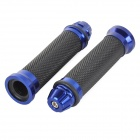 XL8 Universal Replacement Motorcycle Handle Bar Grip - Black + Blue