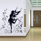 Bella Elfin Bedroom rimovibile Wall Sticker - Nero