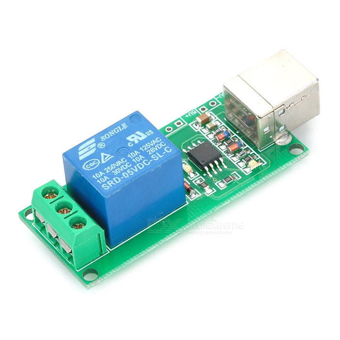 ... Keyes 1-Channel USB Control Switch Relay Module for PC - Red (5V) ...
