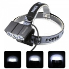 Marsing B33 3-LED 2300lm 3-Mode White Bicycle Light / Headlamp (4 x 18650)