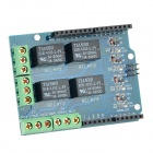 5V 4-CH Extension Relay Module Shield for Arduino (Works with official Arduino Boards) - Deep Blue