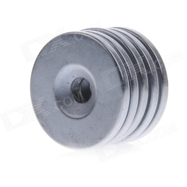 DSC-0530 30 x 3mm Strong Round Hole NdFeB Magnets - Silver (5 PCS)