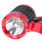 NEW-H11 LED 500lm 3-Mode White Bicycle Light - Black + Red (4 x 18650)