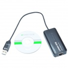 UGREEN 20264 USB Wired Network Adapter w/ 3 Ports USB 2.0 Hub - Black (22cm-Cable)