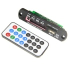 Kinrener Bluetooth 3.0 MP3 Decode Board Support FM/USB/SD MMC Card - Black