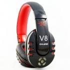 OVLANG V8 Bluetooth V2.1 Stereo Headset Headphone - Black + Red