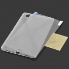 Stylish PVC + TPU Back Case + Screen Guard for Samsung Galaxy Tab Pro 8.4 T320 - Translucent White