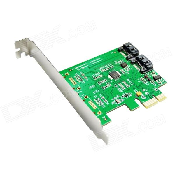 IOCREST IO-PCE9170-2I  2x Internal SATA III 6Gb/s Ports PCI-Express Controller Card - Green