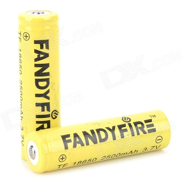 FANDYFIRE 18650 3.7V 1000mAh Li-ion Batteries - Yellow + Black (2 PCS)