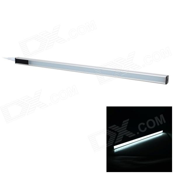 USB-drevet Hånd Justering 500lm 6500K 36-LED White Light Bar / Strip - Sølvgrå svart (DC 5V)