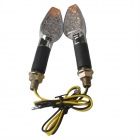Long Handle 2W 112lm 15-LED Motorcycle Yellow Light Steering Lamps (12V / 2 PCS)