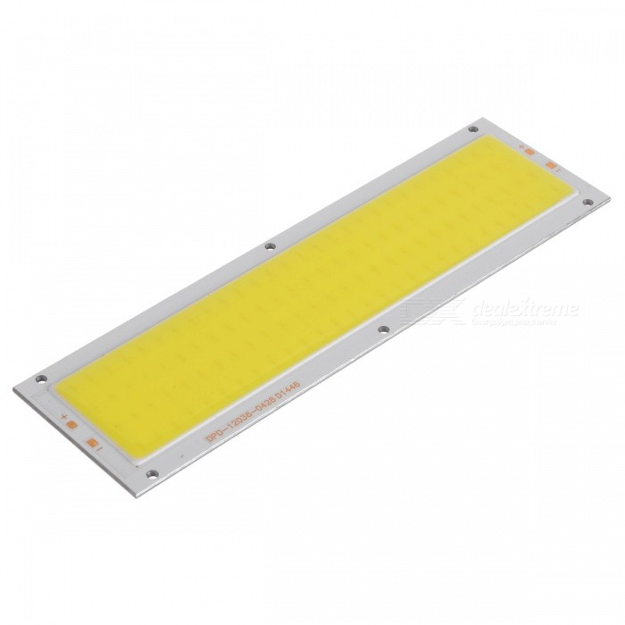 7W 1000lm COB LED Strip Cold White Light Source Module (DC 9~11V)BrandnoModelF14MaterialAluminum baseForm  ColorYellow + SilverQuantity1 DX.PCM.Model.AttributeModel.UnitPower9W,9WRate Voltage9~12VWorking Current700 DX.PCM.Model.AttributeModel.UnitDimmableNoConnector TypeOthers,WeldingEmitter TypeCOBTotal Emitters42Color BINWhiteBeam Angle180 DX.PCM.Model.AttributeModel.UnitColor Temperature6000KActual Lumens1000 DX.PCM.Model.AttributeModel.UnitPower7 DX.PCM.Model.AttributeModel.UnitPacking List1 x 7W COB LED<br>
