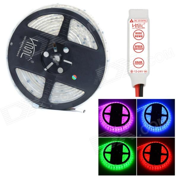 HML Waterproof 72W 300-SMD 5050 LED RGB Light /Warm White LED Strip w/ 3-Key Mini RGB Controller(12V / 5m)