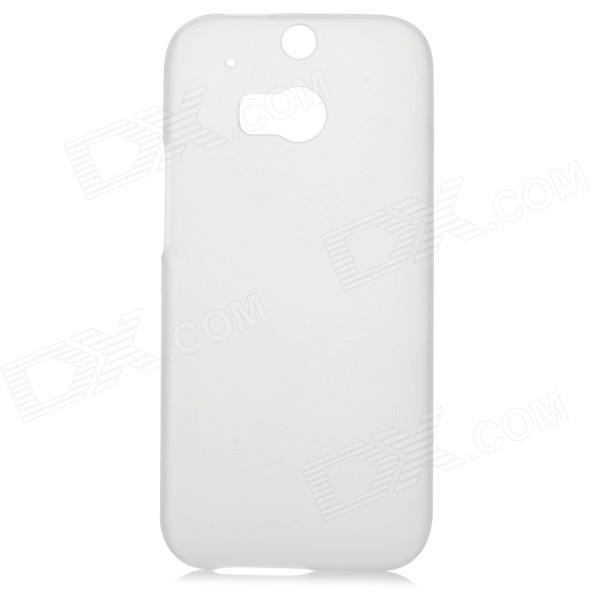 Fashionable Matte PC Back Case for HTC ONE 2 (M8) - Translucent White