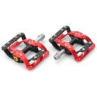 Mountain Bike Aluminum Alloy Pedals - Black + Red (Pair)