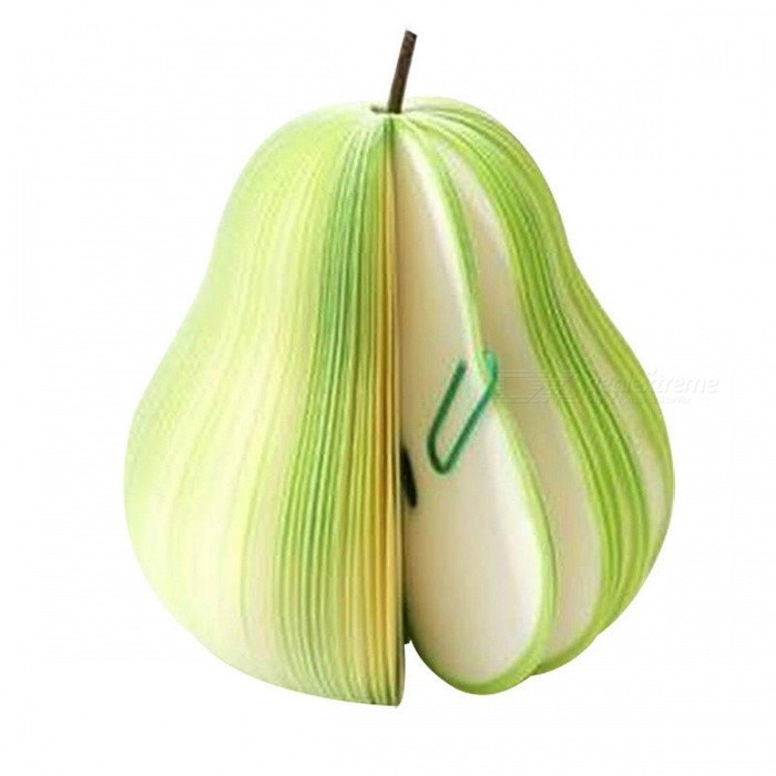 Buy Unique Creative Pear Shaped Memo Pad - Small (About 150-Page) with Litecoins with Free Shipping on Gipsybee.com