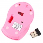 Promi MF-218 2.4GHz Mini 800/1200/1600dpi Wireless Optical Mouse - Pink