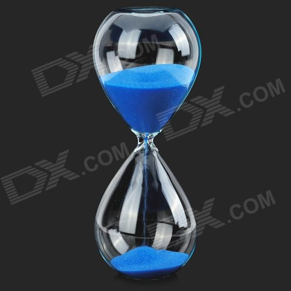 Buy Aestheticism Creative Gift Hourglass / Sand Glass - Transparent + Blue with Litecoins with Free Shipping on Gipsybee.com