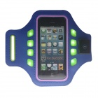 Outdoor Sports Arm Band w/ 3-Mode LED Light for IPHONE 5 / 5C / 5S - Blue