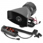 60W 5-tone Electronic Siren Annunciator for Car - Black