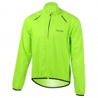Santic MC07004V Outdoor Cycling Windproof Sunproof Polyester Jacket for Men - Fluorescent Green (XL)